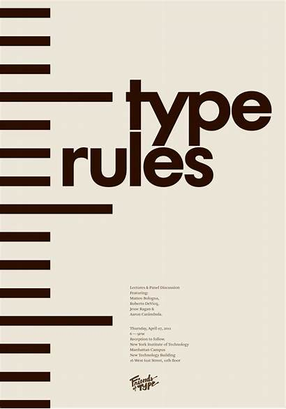 Rules Type Poster Graphic Friends Typography Typographic