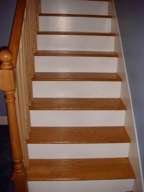 Tile Stair Nosing Wood by Wood Stair Treads With Tile Risers For Home Design Images