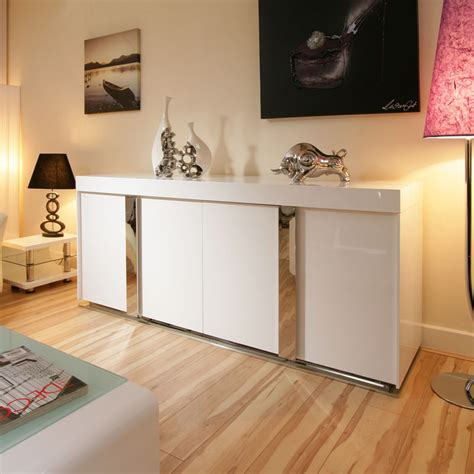 White Sideboard Modern by Modern Sideboard Cabinet Buffet In White High Gloss 2