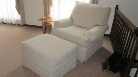 matching chair and ottoman slipcovers custom slipcovers