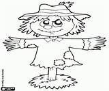 Scarecrow Coloring Farm sketch template