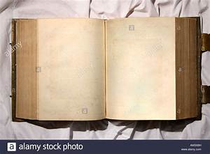 A very old open book with blank pages Stock Photo, Royalty ...