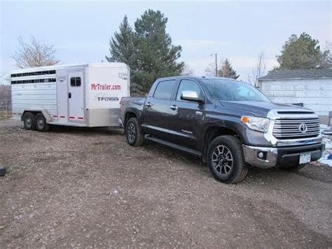 mrtruck reviewing  toyota tundra  towing trailers