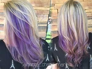 Full highlights, purple peekaboos and lavender ends # ...