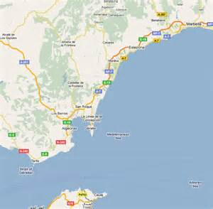 Map of Spain with Rock of Gibraltar