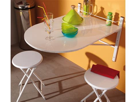 table de cuisine retractable table de cuisine pliable 2 tabourets bois pvc blanc