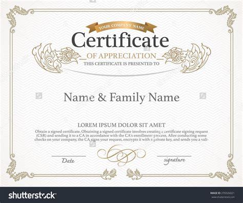 certificate design template thai art design stock vector