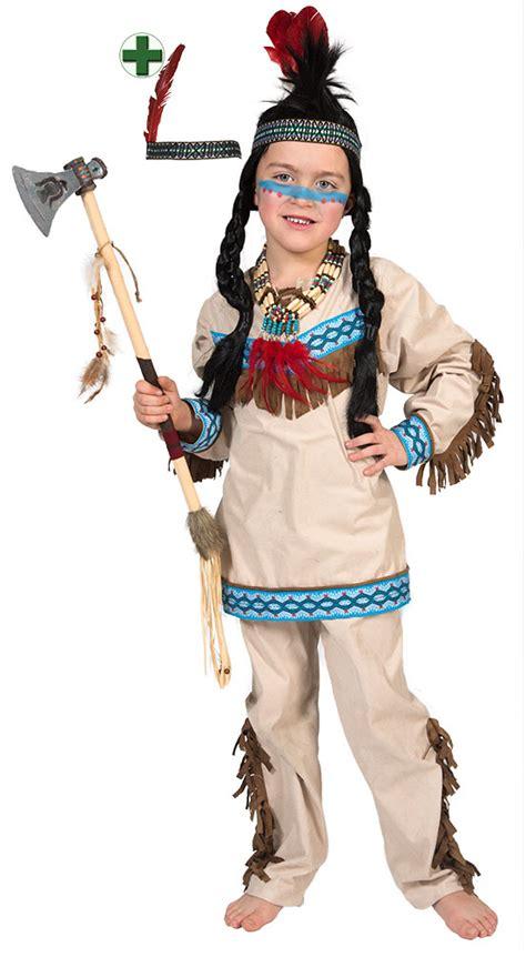 fasching kostüm junge indianer kost 252 m kinder junge beige blau kost 252 m jungen kost 252 m stirnband h 228 uptling ebay