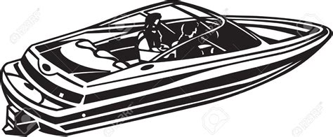 motor boat clipart black and white free power boat clipart 33