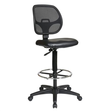 deluxe mesh back drafting chair with vinyl seat dc2990v