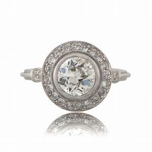 vintage engagement ring With vintage halo wedding rings