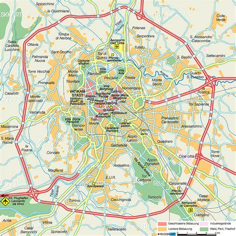 karte von rom stadt  italien welt atlasde