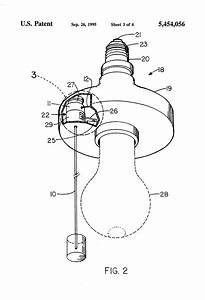 patent us5454056 luminous pull cord for electrical With pull cord wiring