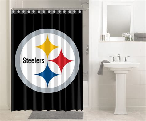 pittsburgh steelers bathroom decor pittsburgh steelers nfl football 531 shower curtain