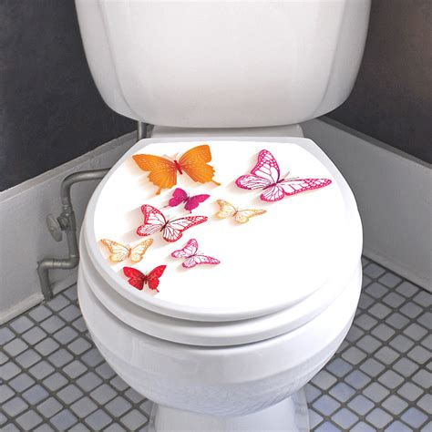stickers muraux pour toilette sticker abattant toilette avec les papillons color 233 stickers toilettes abattants wc ambiance