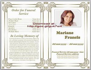 obituary templates doliquid With death program templates