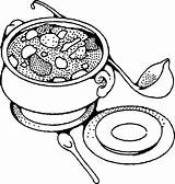 Stew Clipart Beef Coloring Pages Soup Cliparts Clip Library sketch template