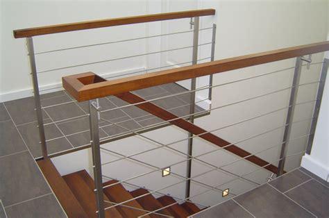 treppengeländer edelstahl holz edelstahl metallbau f 252 r haus garten