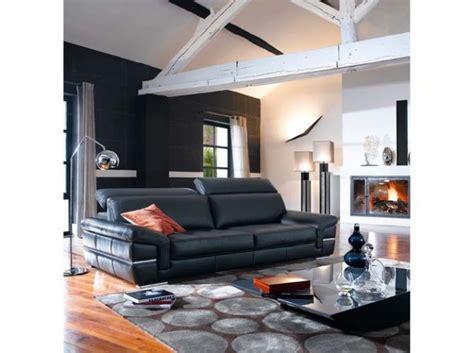 discount canapé cuir univers décoration salon avec canapé noir salons living