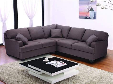 canapé d 39 angle tissu 5 places quot alina quot marron 62149