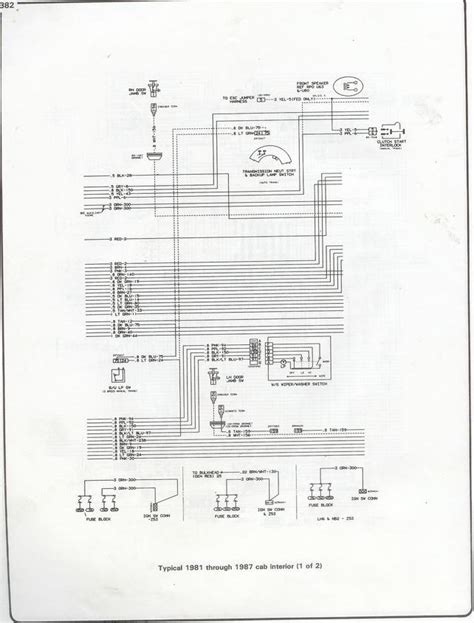 85 Chevy Truck Wiper Wiring Diagram by Wiring Diagrams For 1985 Wiper Motor The 1947 Present