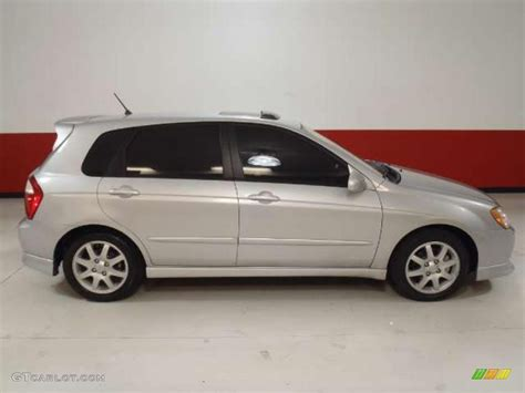 Clear Silver 2006 Kia Spectra Spectra5 Hatchback Exterior