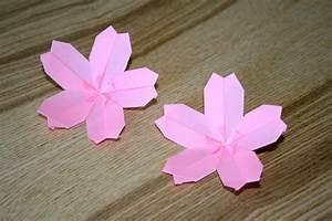 Fleur En Origami Facile : origami facile fleur de cerisier ~ Farleysfitness.com Idées de Décoration