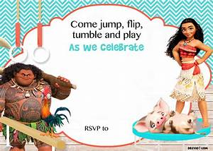 Free moana birthday invitation template free invitation templates drevio for Moana invitation free