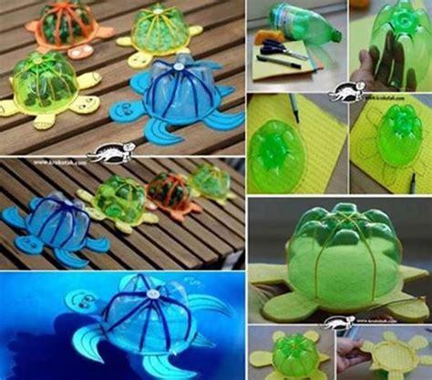 wonderful diy floating turtle family  bottlecap