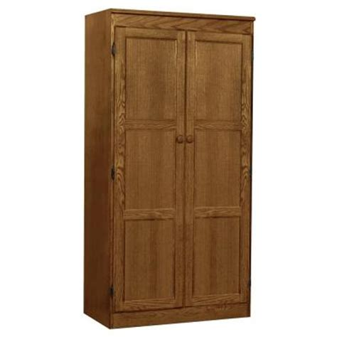 Home Depot Unfinished Cabinets Pantry by Concepts In Wood Multi Use Storage Pantry In Oak