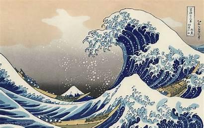 Japanese Desktop Wave Painting Modern Designs Wallpapers