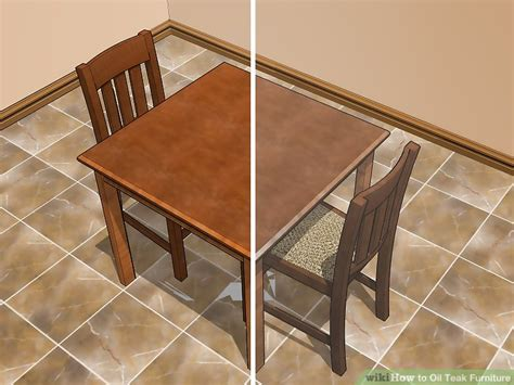 oil teak furniture steps pictures wikihow