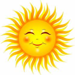 Smiling Sun Clip Art Sunshine Free