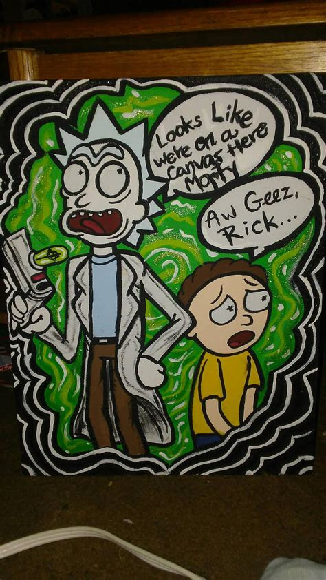 Rick And Morty Painting By Kitsunex3designs On Deviantart