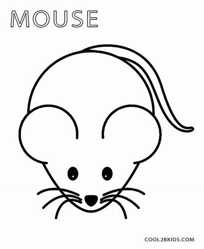 Mouse Coloring Pages Template Drawing Face Preschool