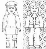 Coloring Pages Doll American Dolls Printable Sheets Print sketch template