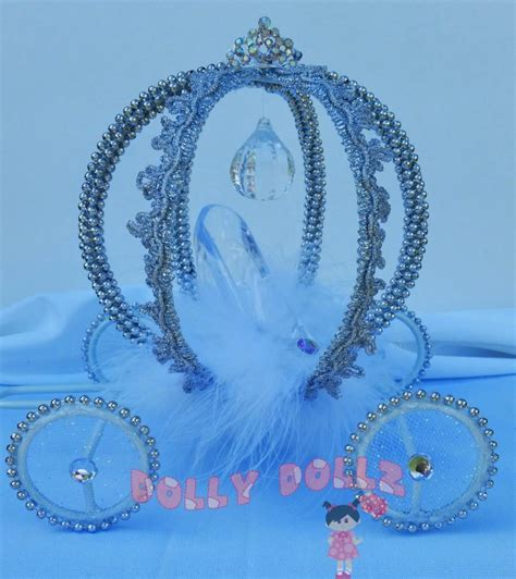 Wire Pumpkin Carriage Centerpiece by Disney Inspired Cinderella Carriage Cake Topper