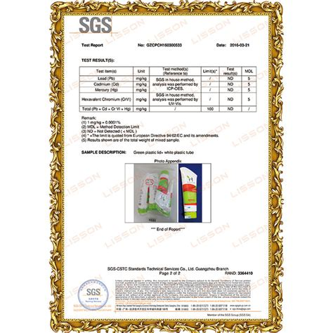 Professional Tpch Test Report Supplier
