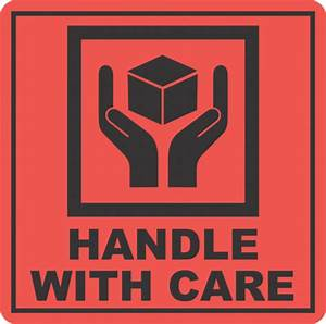 Handle With Care x500 labels - Fragile, Don't Crush, Keep ...