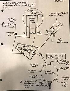 Wiring Diagram For Model 2600 Freshnd Aire Motor - Pre-1950  Antique