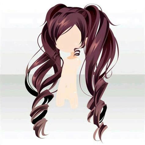 Cool Anime Hairstyles by Lightly Brown Curly Pigtails Fashion