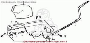 Honda Fl350r Odyssey 350 1985  F  Usa Parking Brake    Parking Brake Cable