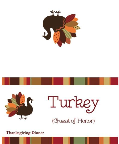 placecards thanksgiving template festival collections