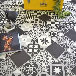 Sol Pvc Carreau De Ciment : dalle sol pvc clipsable click 5g aspect carreaux de ciment ~ Nature-et-papiers.com Idées de Décoration