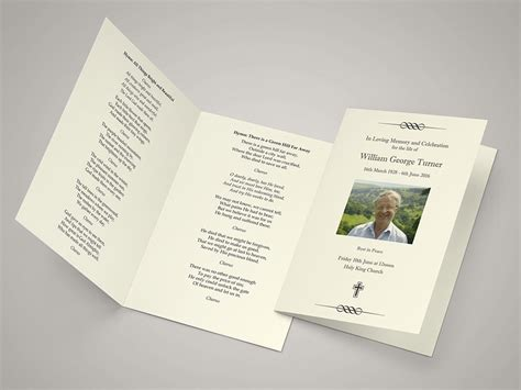 funeral order of service template funeral hymn sheets create a personal order of service