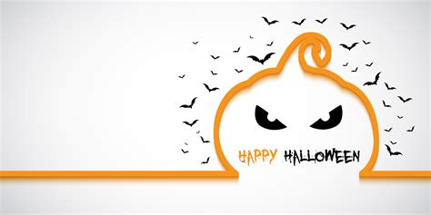 You can mix and match your own paper colors and patterns to create halloween decor with your own. Simple Halloween banner with pumpkin outline - Download ...