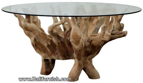 Tree Root Table Glass Top Bali Indonesia