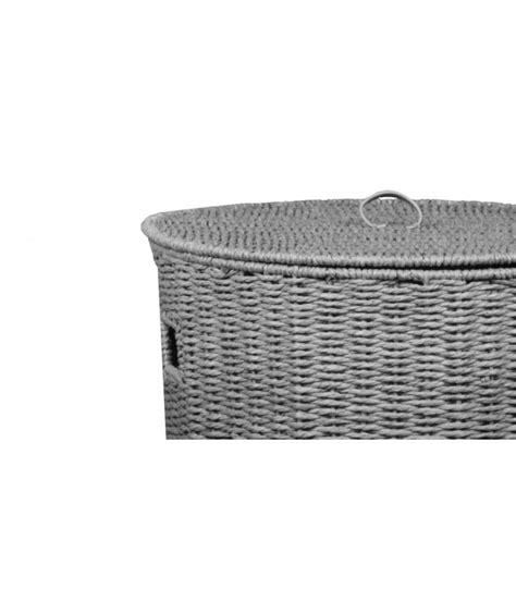 panier 224 linge regate gris avec couvercle