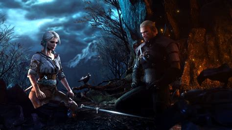 Witcher Animated Wallpaper - geralt of rivia and ciri hd wallpaper background image