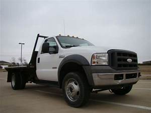 Buy Used 2005 Ford F550 Xl Diesel Flatbed Work Truck In